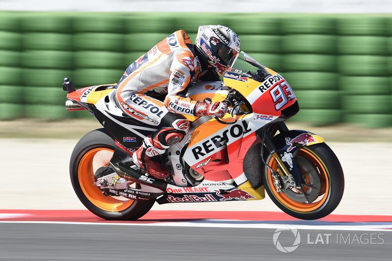 Marc Márquez começou o Q2 com tudo foi o mais veloz na primeira parte da sessão decisiva.