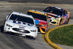 Brad Keselowski, Team Penske, Ford; Kyle Busch, Joe Gibbs Racing, Toyota; Chase Elliott, Hendrick Motorsports, Chevrolet