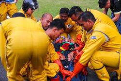 Übung: Bergung eines verletzten Fahrers
