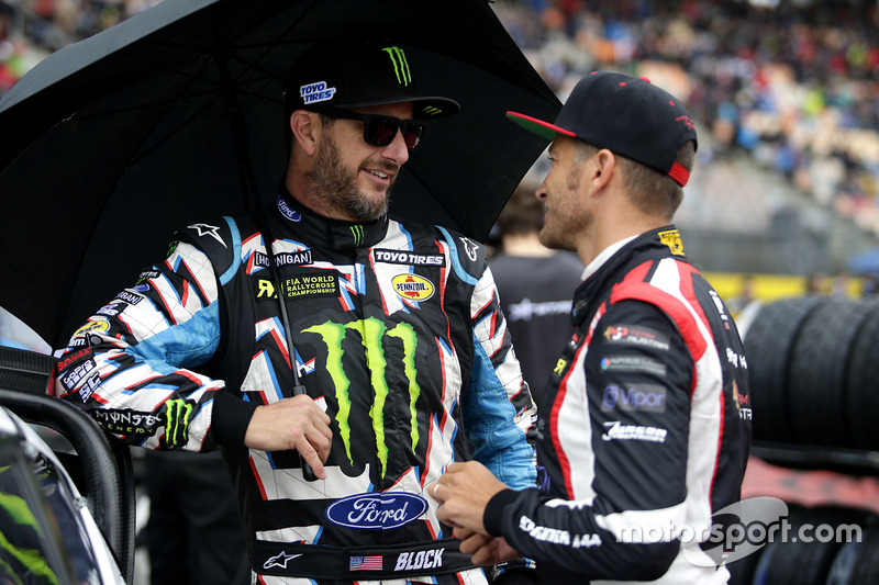 Ken Block, Hoonigan Racing Division, Ford Focus RSRX and Timo Scheider, MJP Racing Team Austria, Ford Fiesta ST