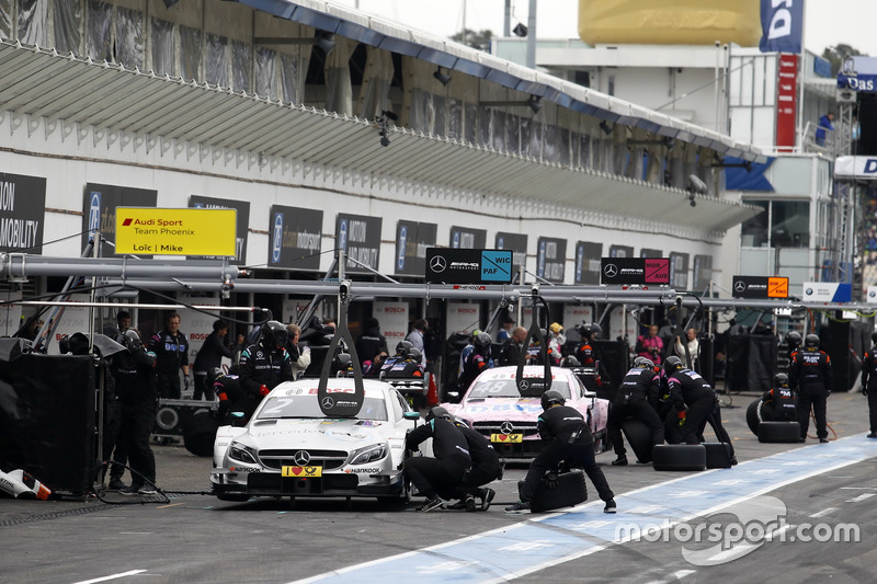 Pit stop, Gary Paffett Mercedes-AMG Team HWA, Mercedes-AMG C63 DTM