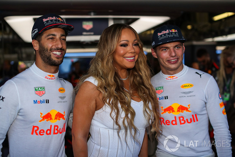 Daniel Ricciardo, Red Bull Racing, Max Verstappen, Red Bull Racing, Mariah Carey