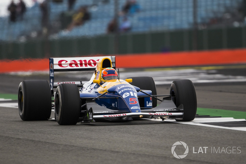Karun Chandhok en el Williams FW14B Renault Sport F1 Team