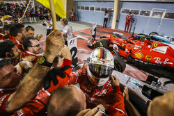Sebastian Vettel, Ferrari, ganador