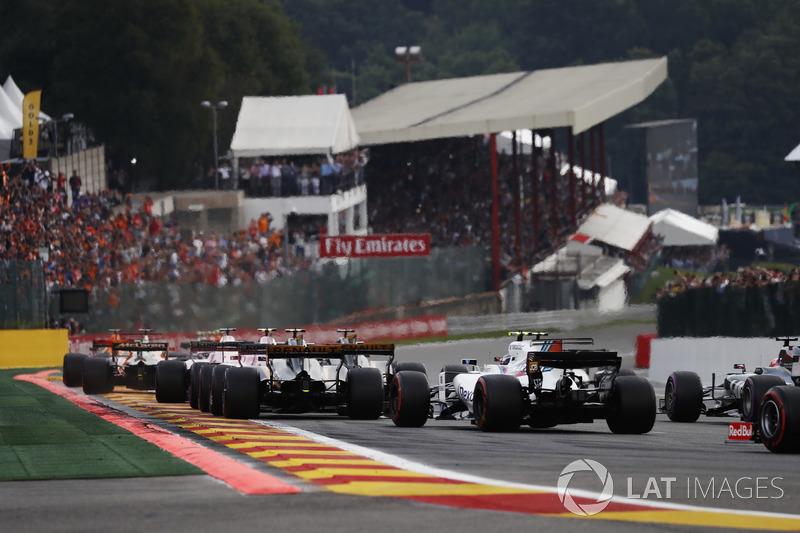 Aksi balapan GP Belgia 2017