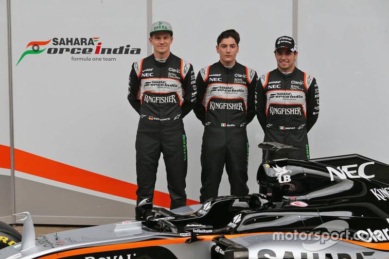 Sergio Perez, Alfonso Celis, Nico Hulkenberg - Sahara Force India F1 VJM09