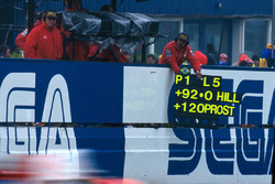 Boxentafel für Ayrton Senna, McLaren Ford MP4/8