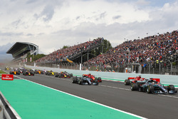 Lewis Hamilton, Mercedes AMG F1 W09, Valtteri Bottas, Mercedes AMG F1 W09, Sebastian Vettel, Ferrari SF71H, Kimi Raikkonen, Ferrari SF71H, Max Verstappen, Red Bull Racing RB14, Daniel Ricciardo, Red Bull Racing RB14