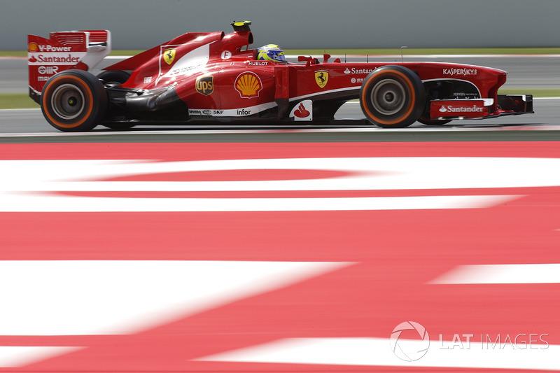 2013: Ferrari F138 - 112 pontos, oitavo lugar no Mundial de Pilotos