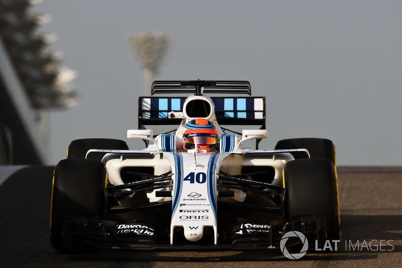 Pruebas con Williams en Abu Dhabi 2017