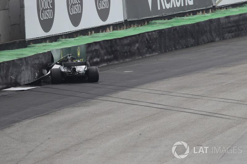 Coche chocado de Lewis Hamilton, Mercedes-Benz F1 W08