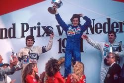 Подиум: победитель Ален Прост, Renault, второе место – Нельсон Пике, Brabham, третье место – Алан Джонс, Williams