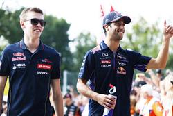 Даниил Квят, Scuderia Toro Rosso, и Даниэль Риккардо, Red Bull Racing