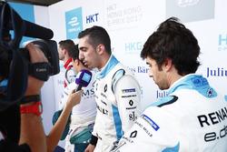 Sébastien Buemi, Renault e.Dams, con los medios