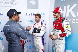 Nelson Piquet Jr., Jaguar Racing. Felix Rosenqvist, Mahindra Racing, Sam Bird, DS Virgin Racing, Daniel Abt, Audi Sport ABT Schaeffler