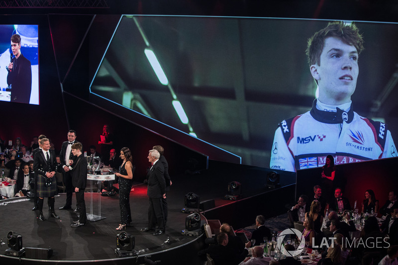 Daniel Ticktum wins the McLaren Autosport Young Driver of the Year Award