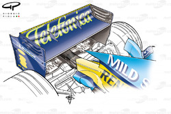 Renault R25 2005 Budapest rear wing