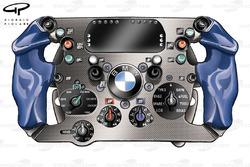 BMW Sauber F1.06 2006 Heidfeld steering wheel