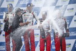 Podium: winners Ott Tanak, Martin Järveoja, Toyota Yaris WRC, Toyota Gazoo Racing, third place Jari-Matti Latvala, Miikka Anttila, Toyota Yaris WRC, Toyota Gazoo Racing