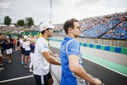 Drivers parade,Sergio Sette Camara, Carlin, Lando Norris, Carlin