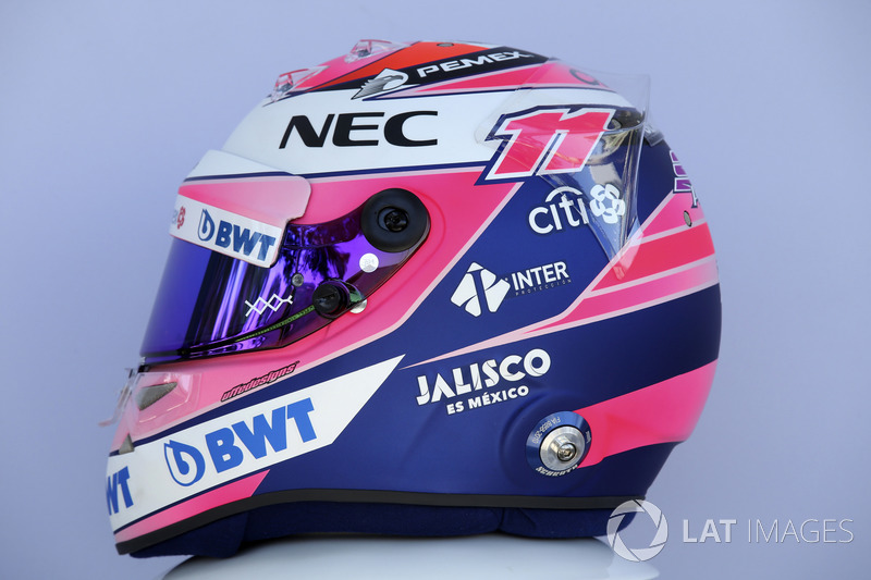 Casco de Sergio Pérez, Force India