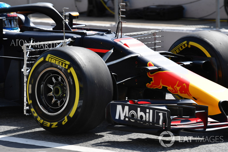 Red Bull Racing RB14 met sensoren