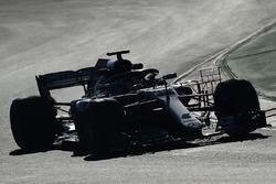 Lewis Hamilton, Mercedes-AMG F1 W09 avec des capteurs aéro
