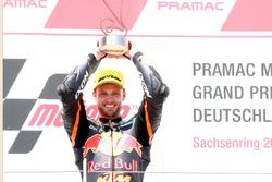Podio: ganador de la carrera Brad Binder, Red Bull KTM Ajo Moto2