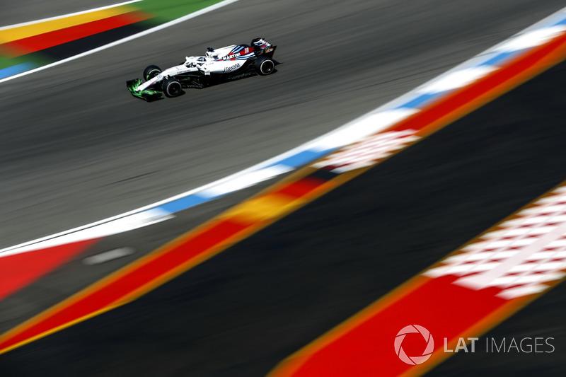 Lance Stroll, Williams FW41, with aero paint