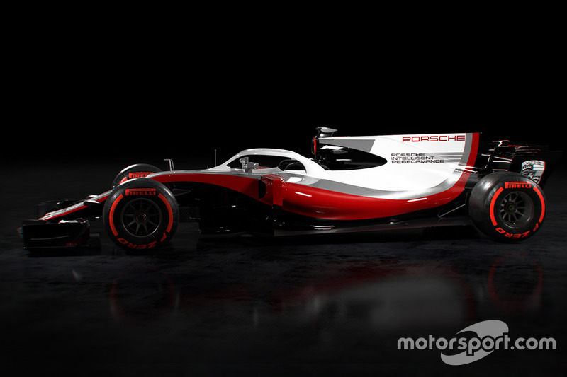 Porsche F1 renk düzeni konsepti