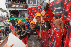 Podium: Race winners Chaz Mostert, Steven Owen, Rod Nash Racing Ford