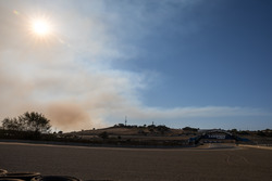 Smoke from a local fire