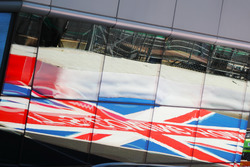 British Flag being reflected