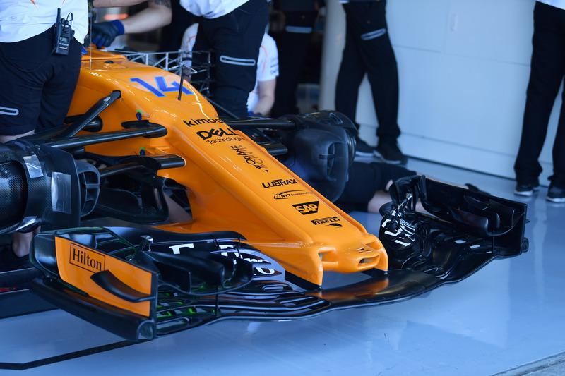 Morro y alerón del McLaren MCL33