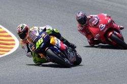 Valentino Rossi, Honda Team and Max Biaggi, Yamaha Team