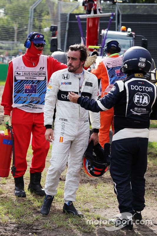 Fernando Alonso, McLaren después de su accidente