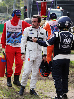 Fernando Alonso, McLaren na crash