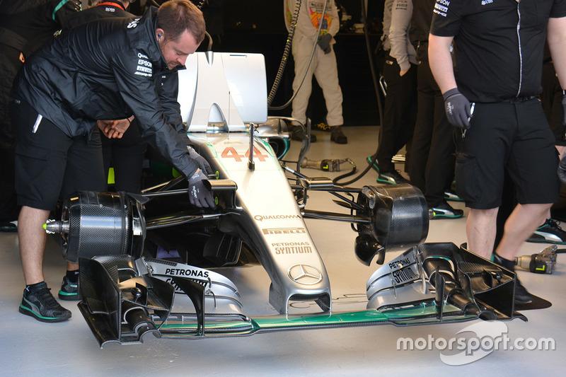 Frontflügel von Lewis Hamilton, Mercedes AMG F1 Team W07