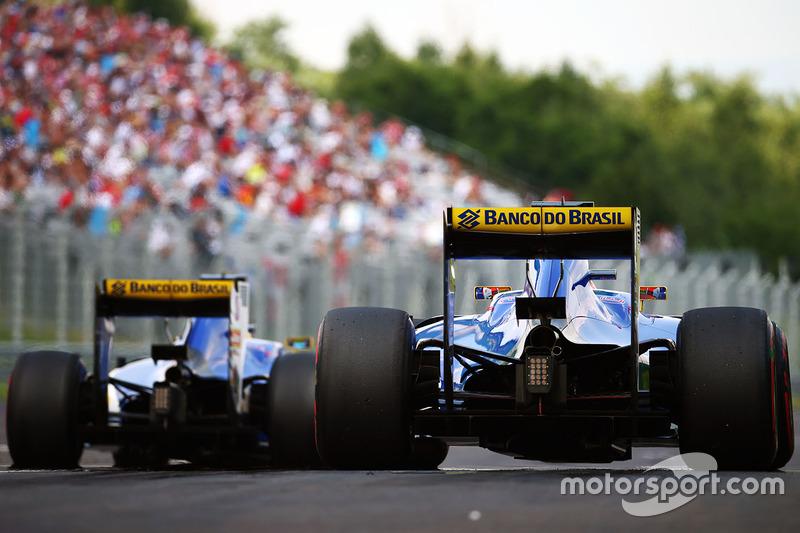 Felipe Nasr, Sauber C35 and Marcus Ericsson, Sauber C35
