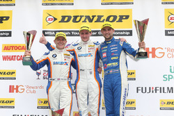 Podium: race winner Sam Tordoff, Team JCT1600 With Gardx, second place Andrew Jordan, Motorbase Performance, third place Robert Collard, Team JCT1600 With Gardx