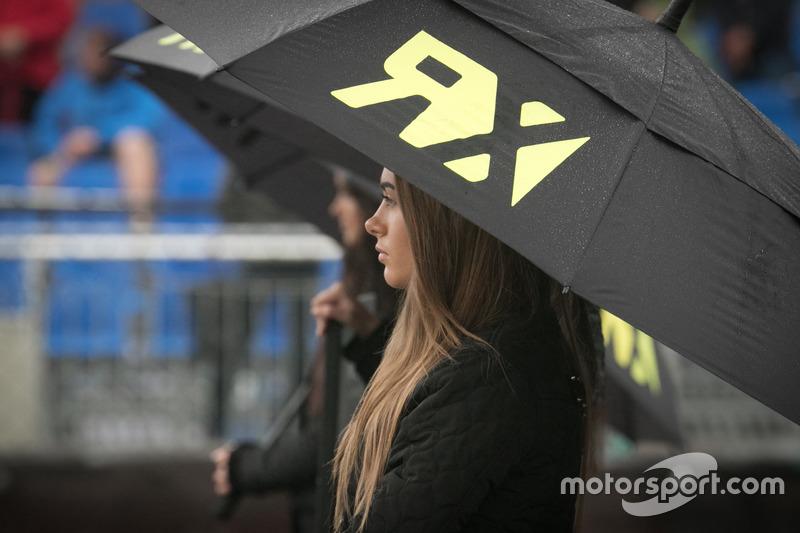 Грид-гёрд под зонтом