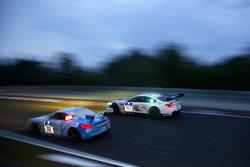 """#100 Schubert Motorsport, BMW M6 GT3: John Edwards, Jens Klingmann, Lucas Luhr, Martin Tomczyk; #112 Care For Climate, Porsche Cayman GT4: """"Smudo"""