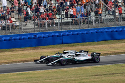 Race winner Lewis Hamilton, Mercedes-AMG F1 W09 and Valtteri Bottas, Mercedes-AMG F1 W09 celebrate at the end of the race