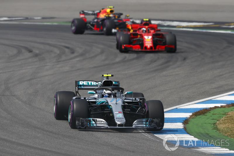 La bataille pour la 3e place entre Räikkönen, Bottas et Verstappen