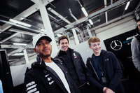 Lewis Hamilton, Mercedes AMG F1, Toto Wolff, Executive Director Mercedes AMG F1, Billy Monger