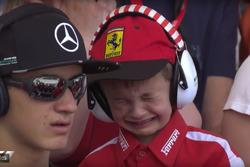 Huilende fan van Kimi Raikkonen, Ferrari
