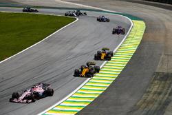 Sergio Perez, Sahara Force India F1 VJM10, Nico Hulkenberg, Renault Sport F1 Team RS17, Carlos Sainz Jr., Renault Sport F1 Team RS17, Pierre Gasly, Scuderia Toro Rosso STR12