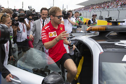Sebastian Vettel, Ferrari missed the start of the drivers parade