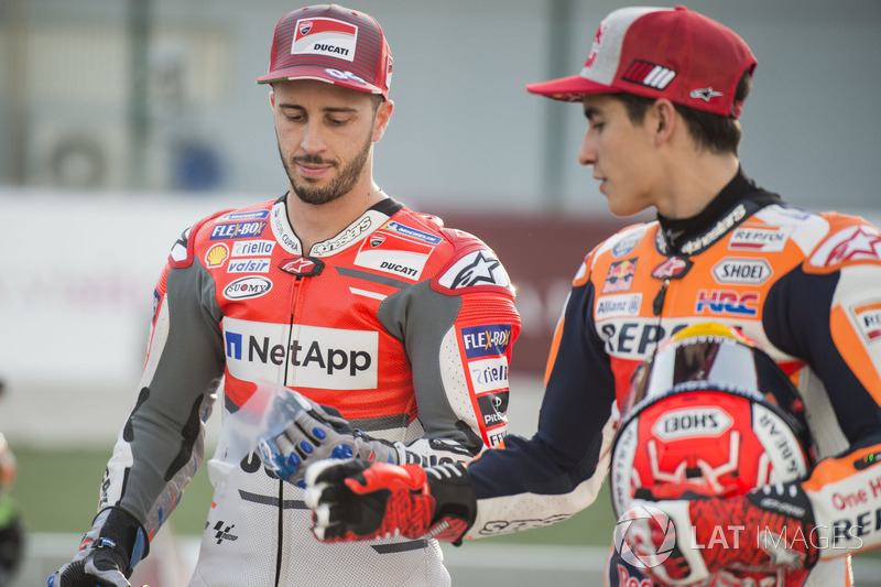 Андреа Довіціозо, Ducati Team, та Марк Маркес, Repsol Honda Team