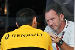 Christian Horner, Red Bull Racing Team Principal et Cyril Abiteboul, directeur général Renault Sport F1